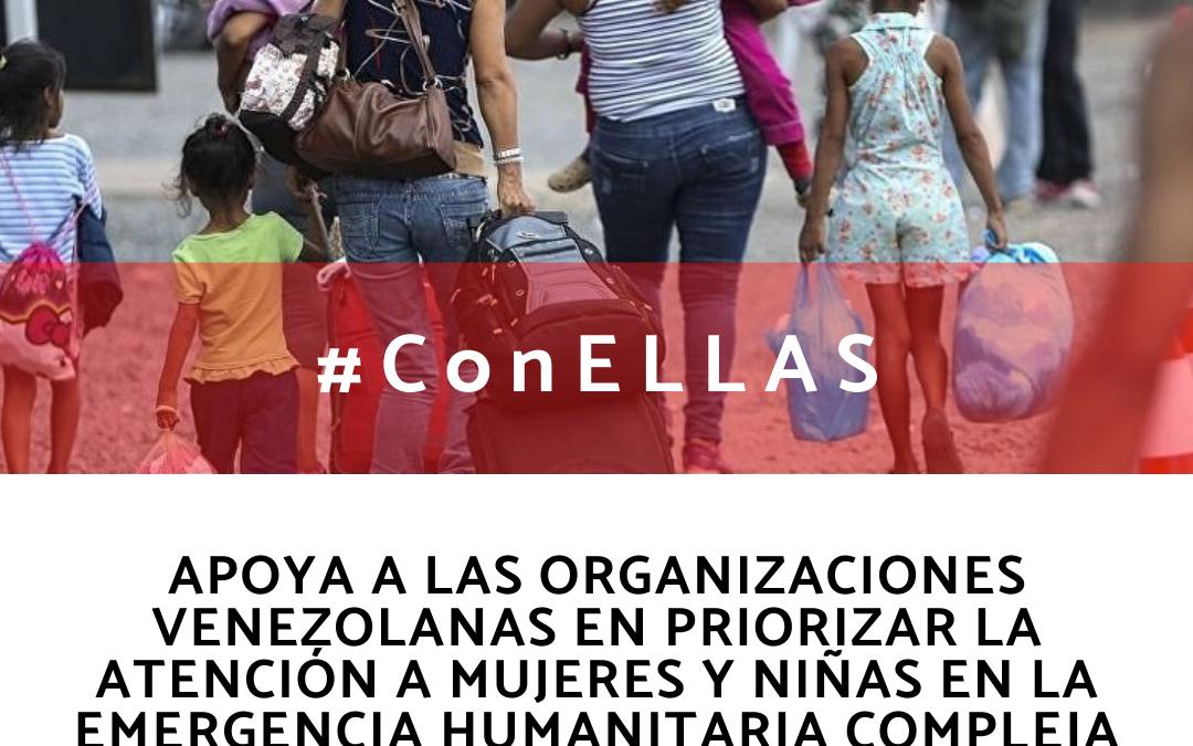 Con Ellas, iniciativa para apoyar a mujeres venezolanas