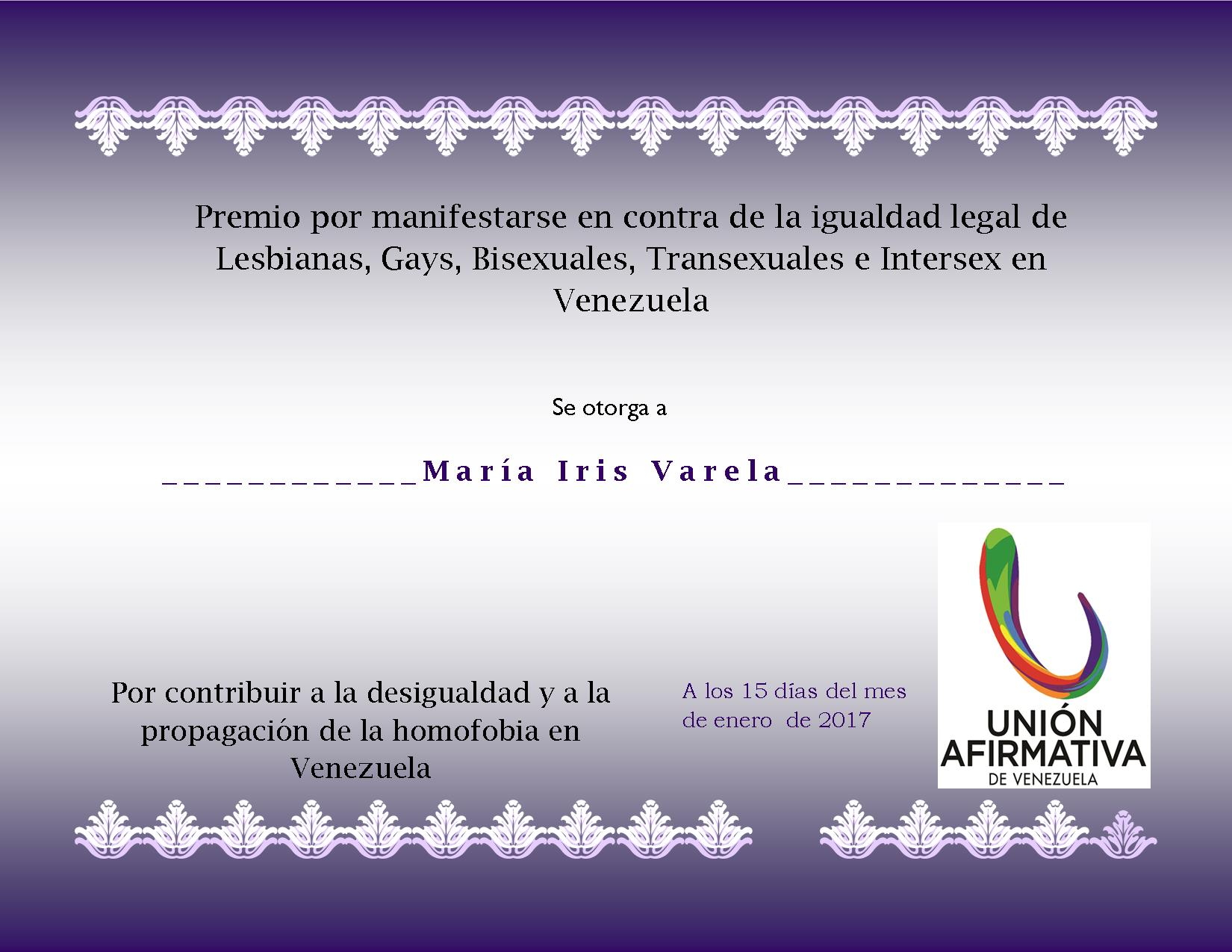 Premio Homofobia 2016